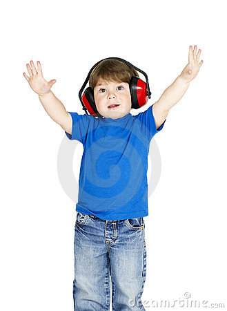 Boy with headphones.