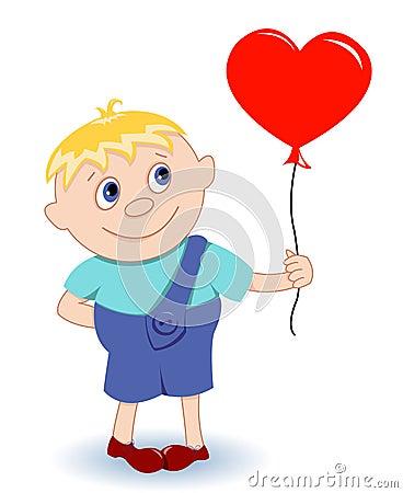 Boy with heart-balloon