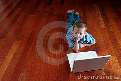 Boy and his computer