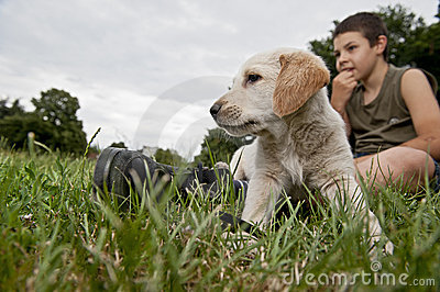 Boy with his friend