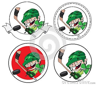 Boy hockey banner