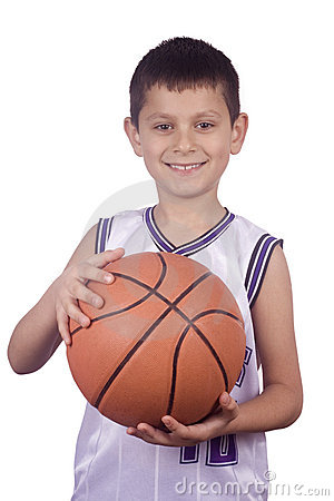 Boy Holding  Basketball Stock Image - Image: 4298071