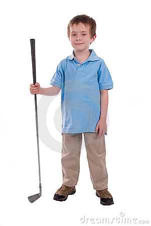 Boy holding a golf club