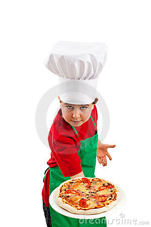 Free Boy Holding Pizza Royalty Free Stock Image - 9928766