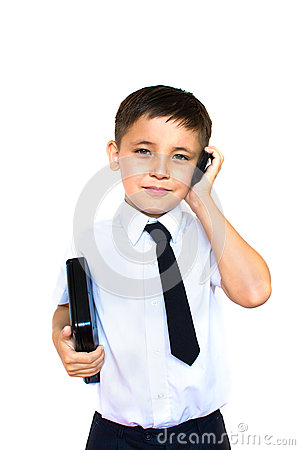 Boy holding talking on the phone
