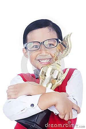 Boy proud of his achievement