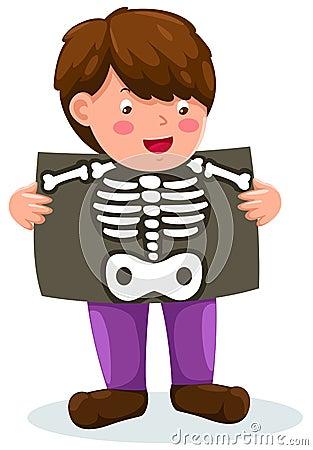 Boy holding x-ray