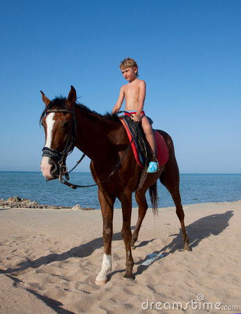 A boy on horseback