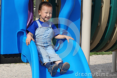 Boy in hot sunny day
