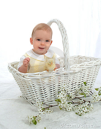 Free Boy In A Basket Stock Image - 4725971