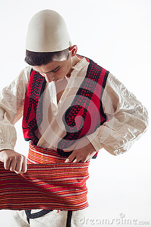 Free Boy In Albanian Traditional Costume Get Dressed Royalty Free Stock Images - 80923149