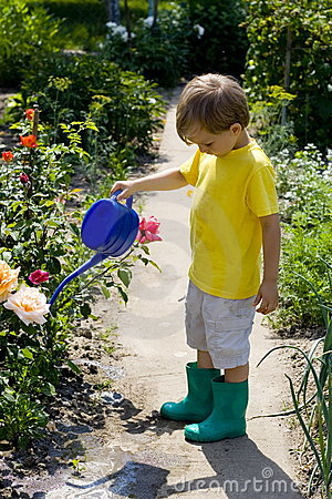 Free Boy In Garden Royalty Free Stock Photo - 1058165