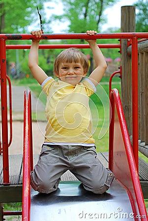 Free Boy In Playground Royalty Free Stock Photo - 2402455
