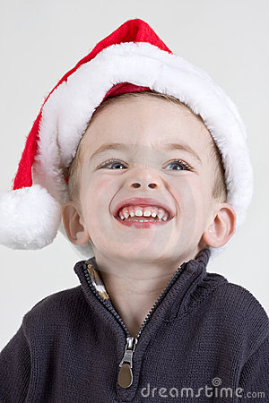 Free Boy In Santa Hat Stock Images - 10381354