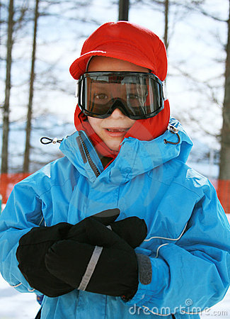 Free Boy In Ski Goggles Royalty Free Stock Photography - 5529527