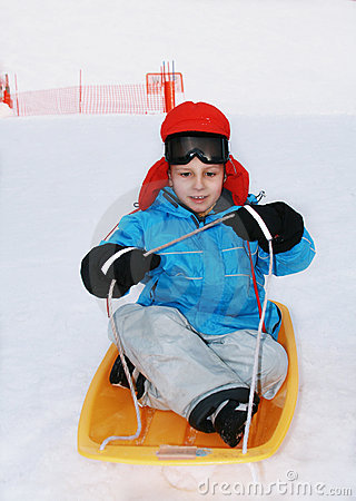 Free Boy In Ski Goggles Royalty Free Stock Photography - 5529937