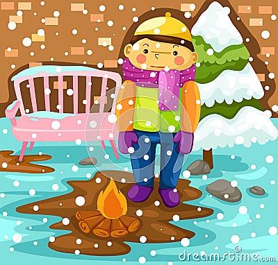 Free Boy In Snow Season Royalty Free Stock Photos - 24254578
