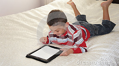 Boy with iPad