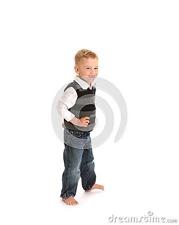 Boy in jeans