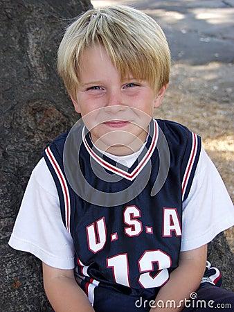 Boy in jersey