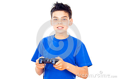 Boy with a joystick