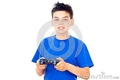 Boy with a joystick