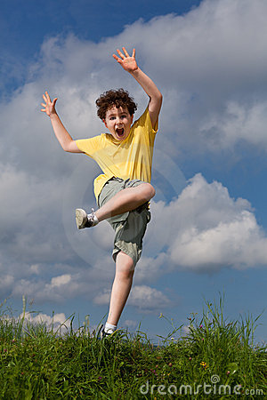 Free Boy Jumping Outdoor Stock Photo - 15962290