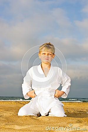 A boy in a kimono