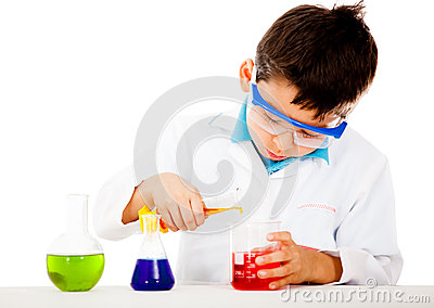 Boy at the lab