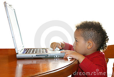 Little Boy and laptop
