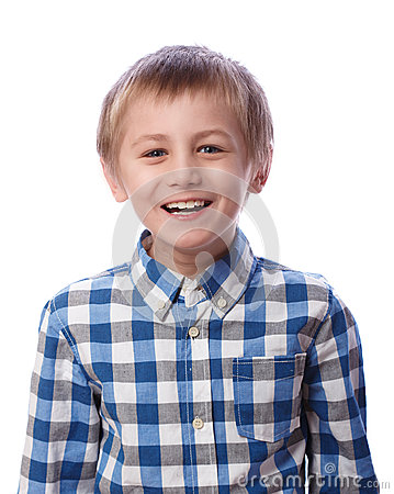 Free Boy Laughs On A White Background Royalty Free Stock Photo - 48289295