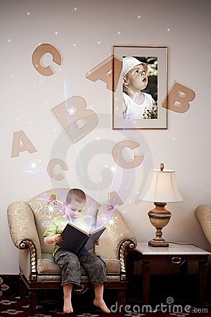 Free Boy Learning Stock Image - 19834251