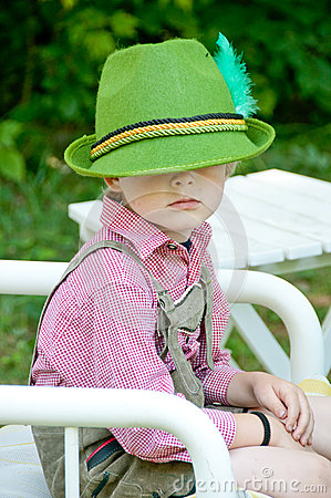 Boy in lederhousen and hat