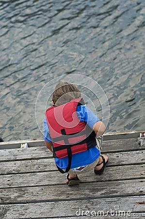 Boy in life vest