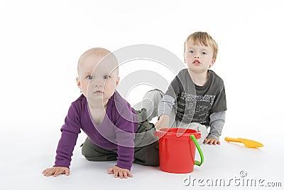 Boy and little girl