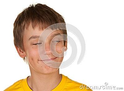 Boy looking at copyspace