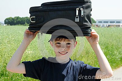 Boy with luggage