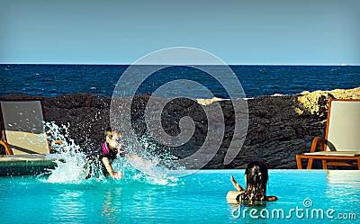 Boy making a Splash