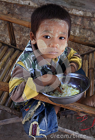 Boy in Mandalay Editorial Photography