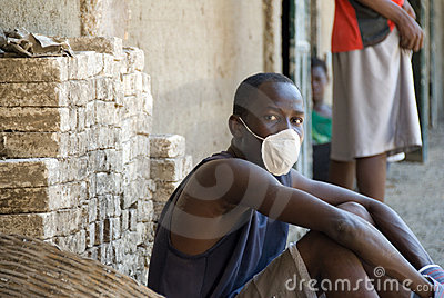 Boy with Mask Editorial Image