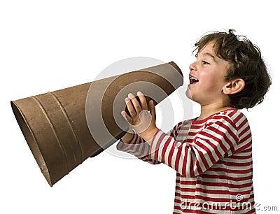 Boy megaphone
