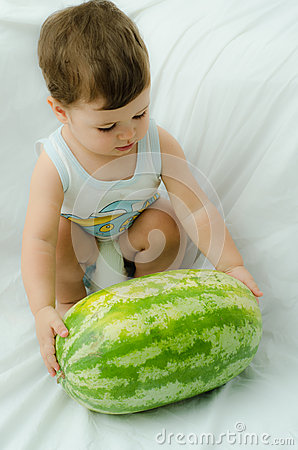Boy with melon