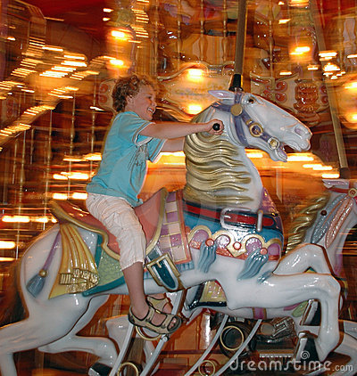 Boy in Merry go Round