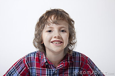 Boy with missing tooth