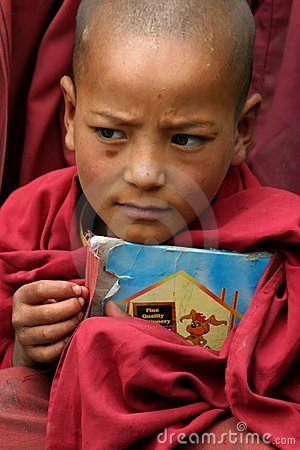 BOY IN MONASTERY OF LADAKH Editorial Image