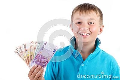 Boy and money