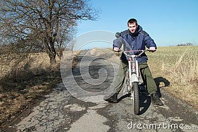 Boy on a motorbike