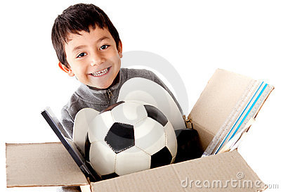 Boy moving house