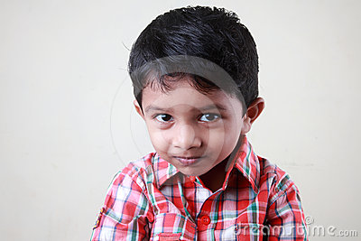 Boy with a naughty smile