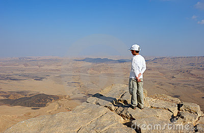 A Boy Near The Cliff Stock Images - Image: 14492814